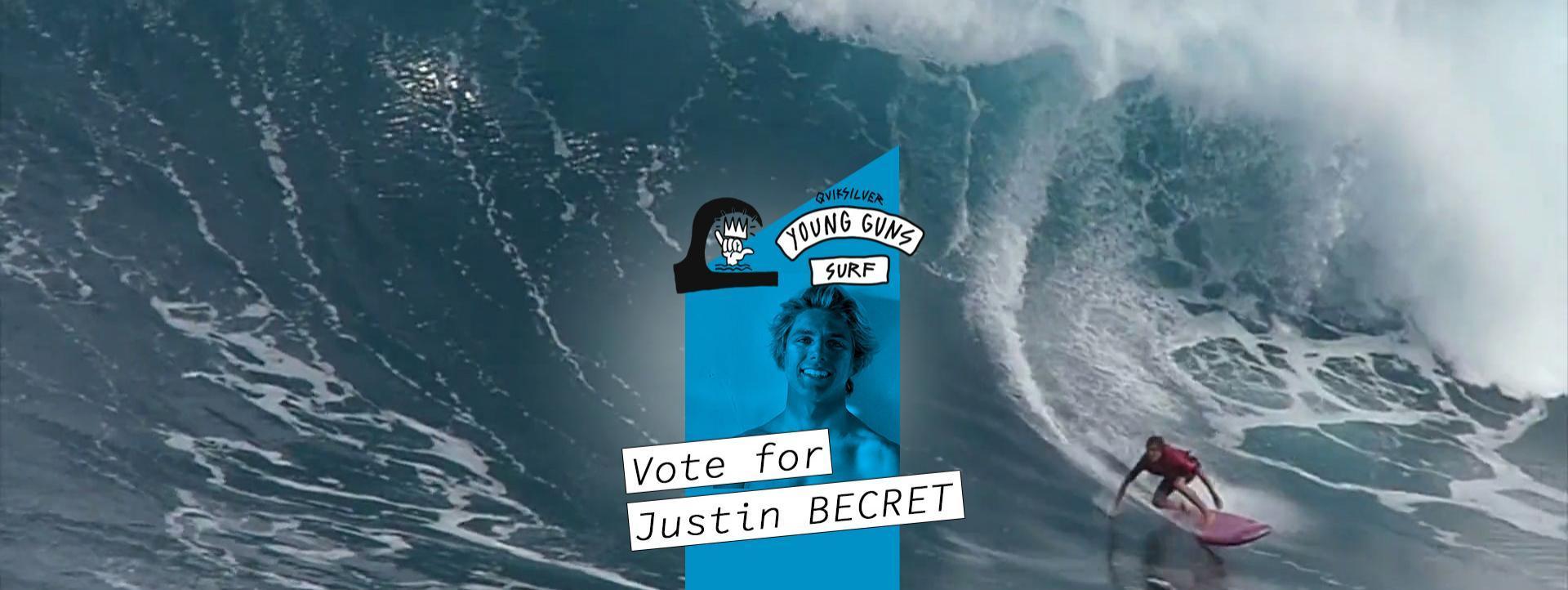 News Surf Quiksilver Young Guns Surf : vote Justin Becret !