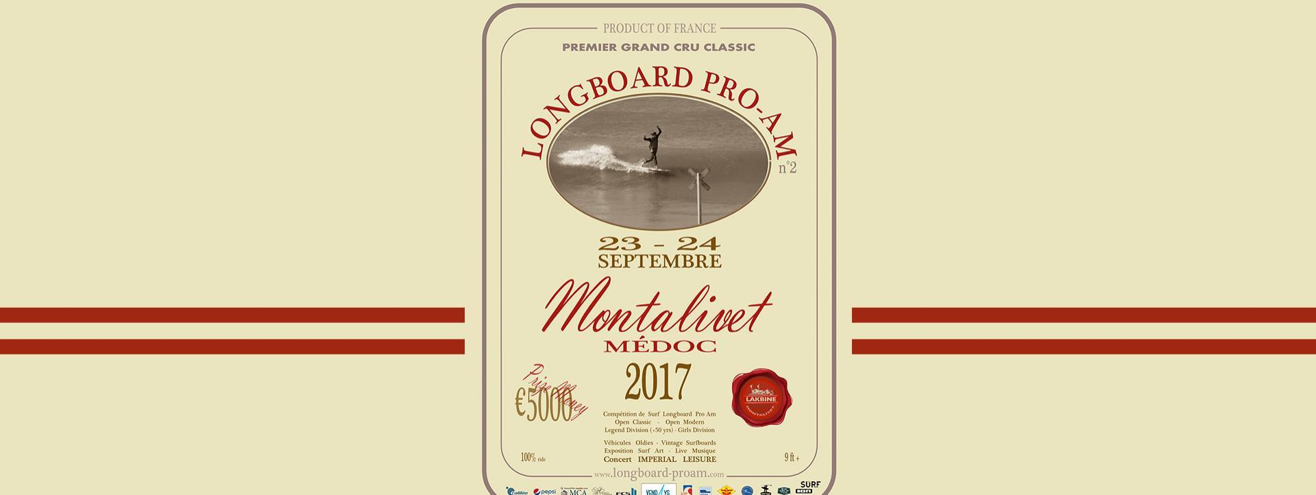News Surf Montalivet Longboard PRO-AM 2017 : 23 et 24 septembre