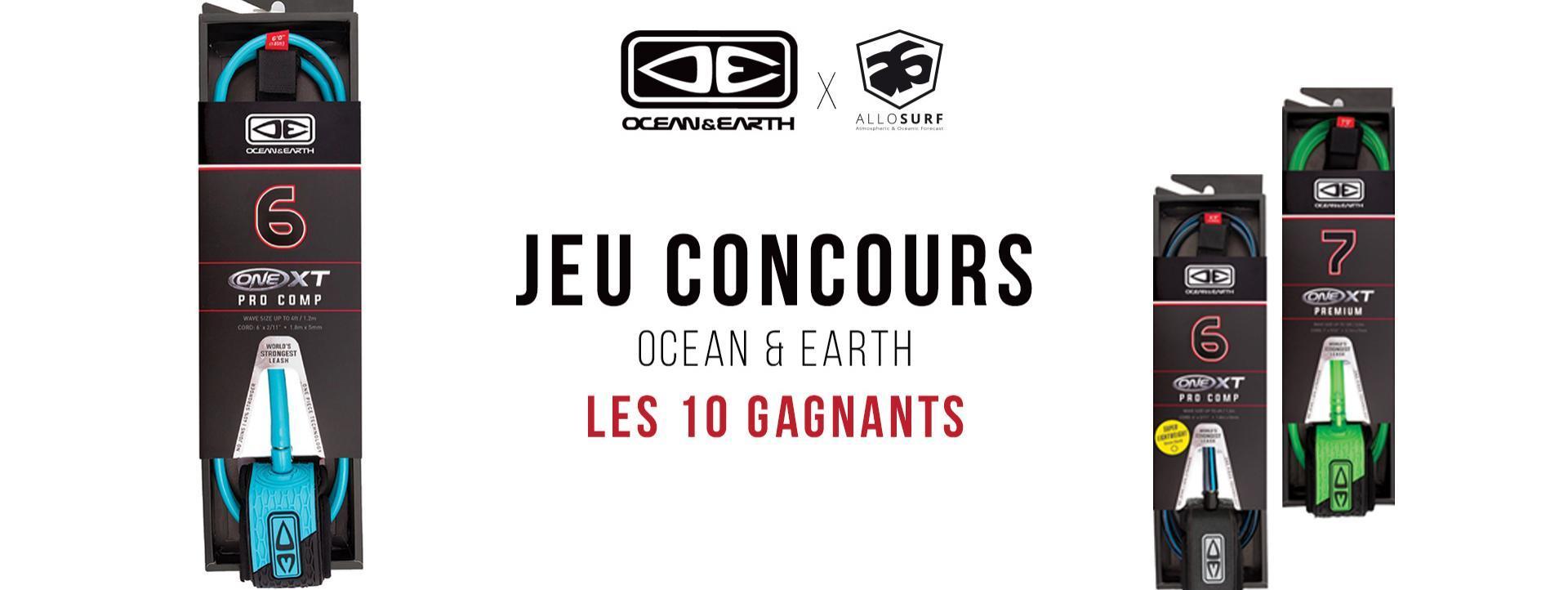 Jeu Concours Jeu Concours Ocean & Earth : les gagnants !
