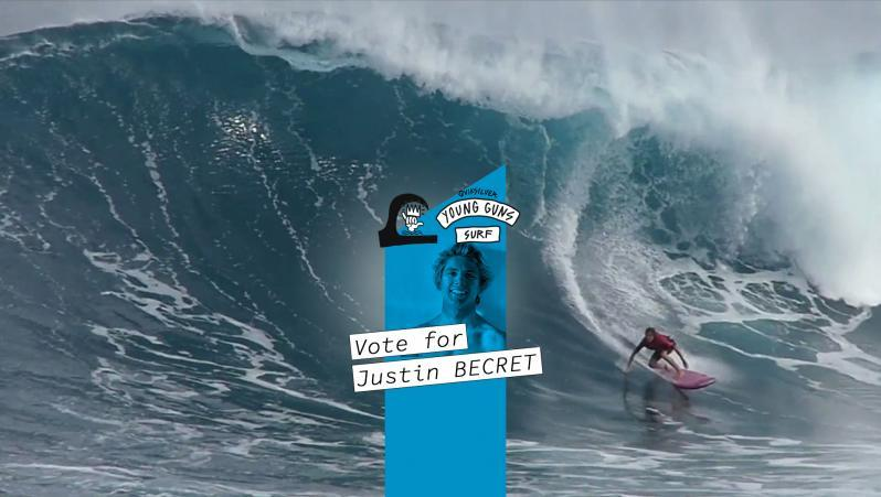 News Surf Quiksilver Young Guns Surf : vote Justin Becret !