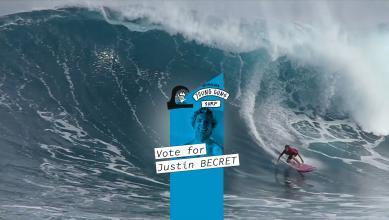 Quiksilver Young Guns Surf : vote Justin Becret !